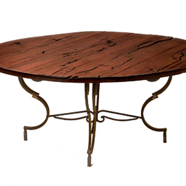 Distressed Mesquite Round Table
