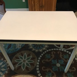 Vintage Enamel Top Table