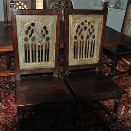 Carved Gothic Captain Chair