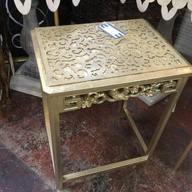 Gold Leaf Accent Table