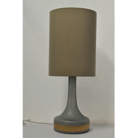 Pair of Grey Matte Gold Stripe Lamps
