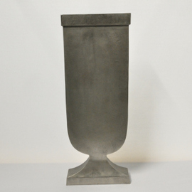 Industrial Decorative Silver Urn